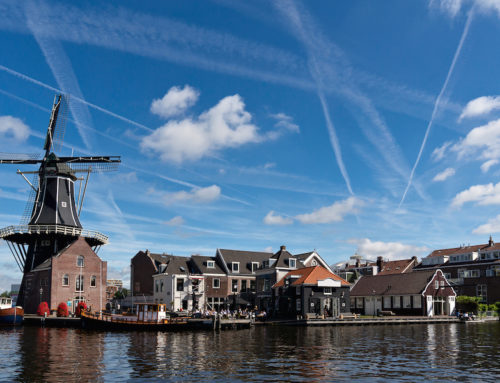 Stilletjes over het Spaarne in Haarlem