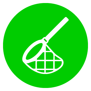 Plastic vissen gereedschap